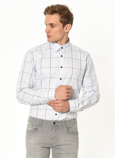 Beymen Business Kareli Gömlek Mavi
